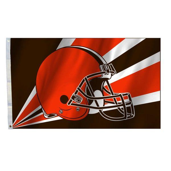 Cleveland Browns Team Helmet Banner Flag 3'x5' NFL Licensed