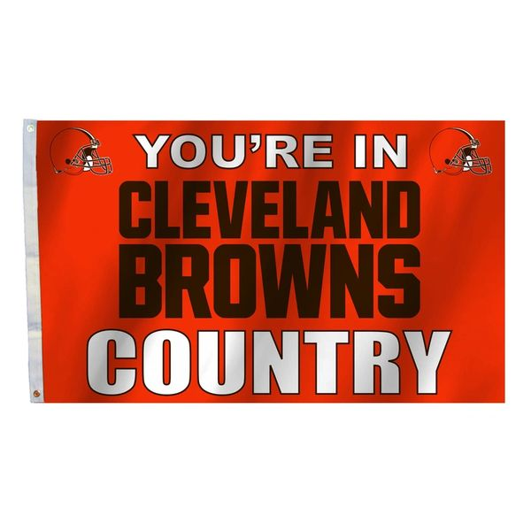 Cleveland Browns You're In Country Banner Flag 3' x 5' NFL Licensed