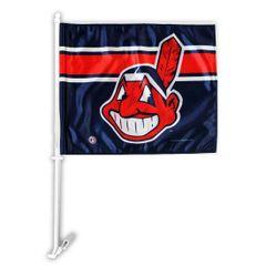 Cleveland Indians Chief Wahoo Car Flag MLB