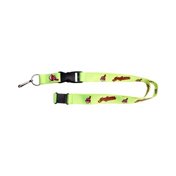 MLB Cleveland Indians Neon Lanyard Featuring Chief Wahoo