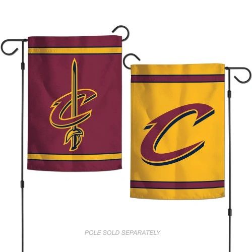 """Cleveland Cavaliers 2 Sided Garden Flag 12"""" x 18"""" NBA Licensed"""