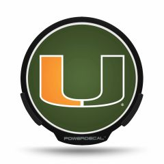 Miami Hurricanes LED Window Decal Light Up Logo Powerdecal NCAA