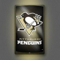 Pittsburgh Penguins Motiglow Light Up Wall Sign NHL Party Animal