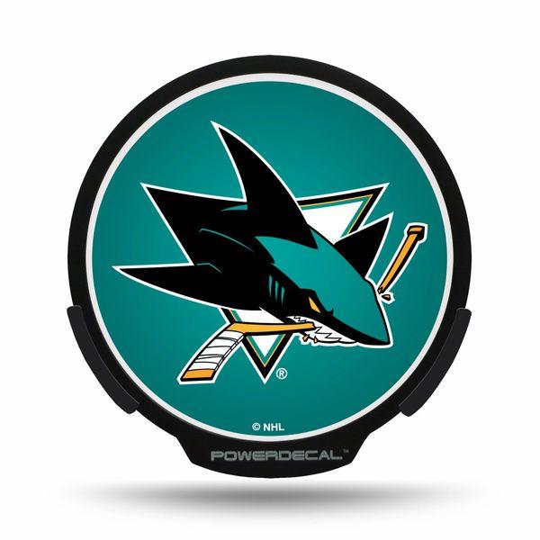 San Jose Sharks LED Window Powerdecal Light up Logo NHL