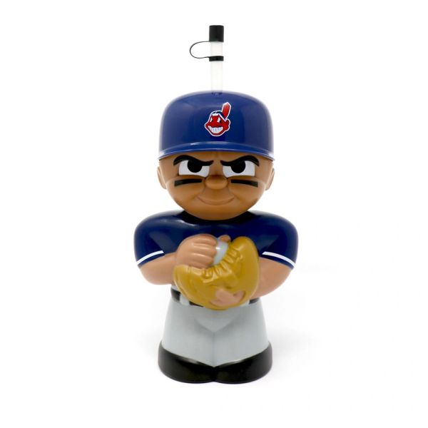 Cleveland Indians With Chief Wahoo BIG SIP Water Bottle MLB