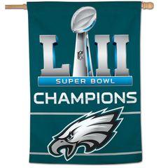 "Philadelphia Eagles Super Bowl 52 Champions Vertical Flag 28"" x 40"""