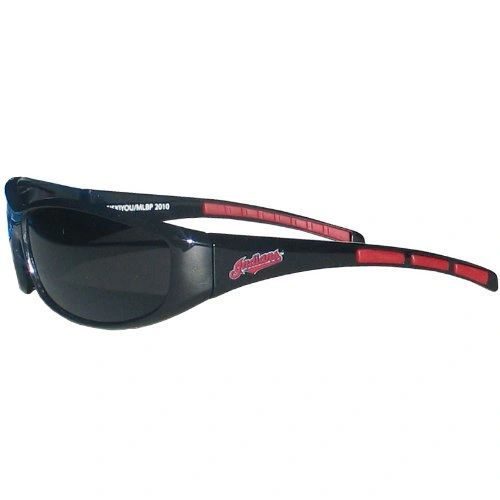 Cleveland Indians Wahoo 3 Dot Wrap Sunglasses MLB
