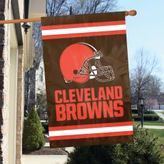 Cleveland Browns 2 Sided Embroidered Vertical House - Wall Flag