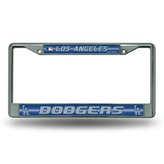 Los Angeles Dodgers Chrome Bling License Plate Frame MLB Licensed