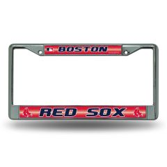 Boston Red Sox Chrome Bling License Plate Frame MLB Licensed