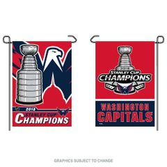 Washington Capitals 2018 Stanley Cups Champions 2 Sided Garden Flag