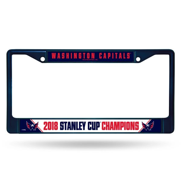 Washington Capitals Stanley Cup Champions Chrome License Plate Frame NHL