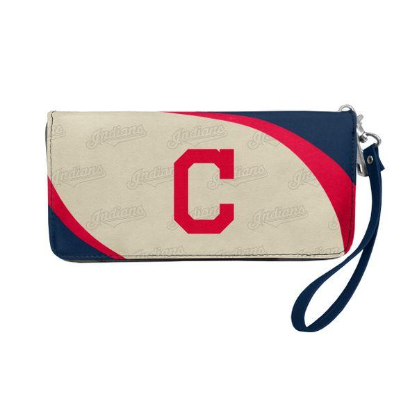 Cleveland Indians Team Logo Women's Zip Organizer Wristlet Wallet MLB