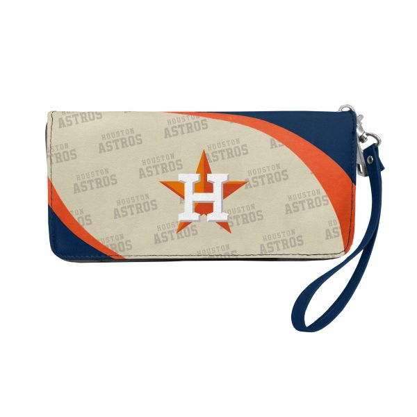 Houston Astros Team Logo Women's Zip Organizer Wristlet Wallet MLB