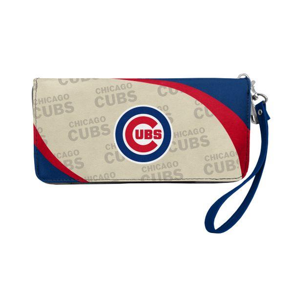 Chicago Cubs Team Logo Women's Zip Organizer Wristlet Wallet MLB