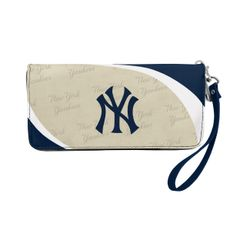 New York Yankees Team Logo Women's Zip Organizer Wristlet Wallet MLB
