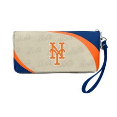 New York Mets Team Logo Women's Zip Organizer Wristlet Wallet MLB