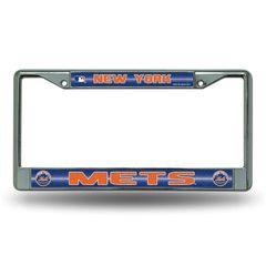 New York Mets Chrome Bling License Plate Frame MLB Licensed