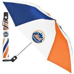"New York Mets Automatic Push Button Umbrella 42"" MLB Licensed"