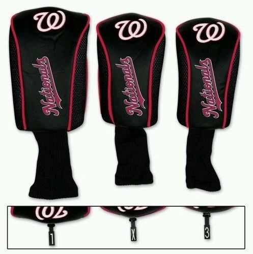 Washington Nationals Golf Club Covers Headcovers 3 pack MLB Licensed