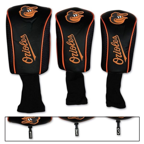 Baltimore Orioles Golf Club Covers 3 pack MLB Licensed