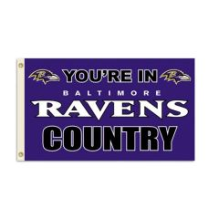 Baltimore Ravens You're In Country Banner Flag 3' x 5' NFL Licensed