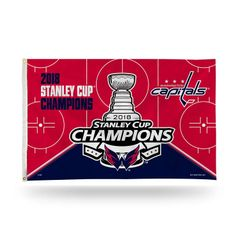 Washington Capitals STANLEY CUP Champions 3'x5' Wall Banner Flag