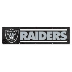 Oakland Raiders 2' x 8' Wall Banner Flag NFL Licensed