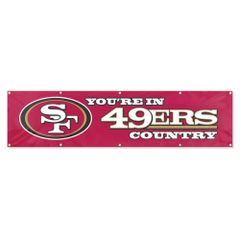 San Francisco 49ers 2' x 8' Wall Banner Flag NFL Licensed