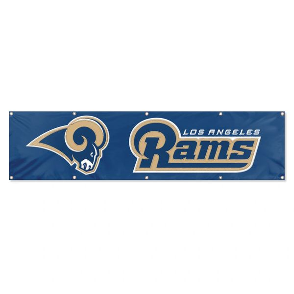 Los Angeles Rams 2' x 8' Wall Banner Flag NFL Licensed
