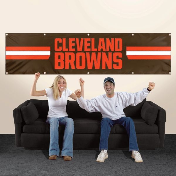 Cleveland Browns 2' x 8' Wall Banner Flag NFL Licensed