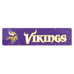 Minnesota Vikings 2' x 8' Wall Banner Flag NFL Licensed