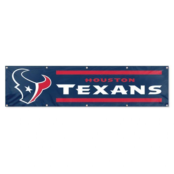 Houston Texans 2' x 8' Wall Banner Flag NFL Licensed