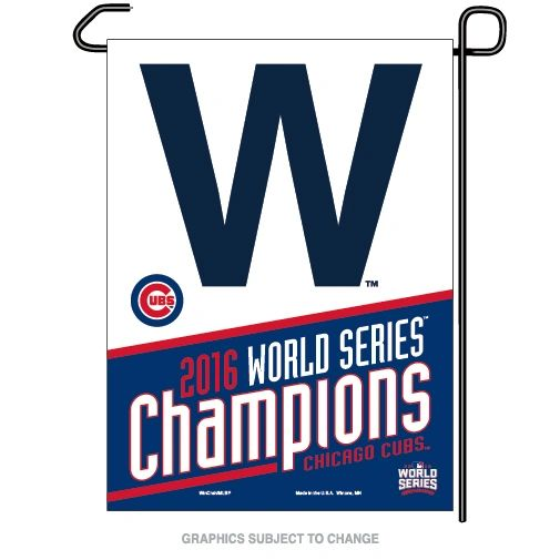 "Chicago Cubs 2016 World Series Champions Garden Flag 12"" x 18"""