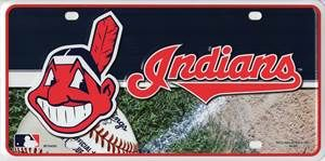Cleveland Indians Metal License Plate Tag MLB Licensed