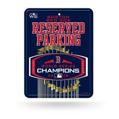 Boston Red Sox 2018 World Series Champions Reserved Parking Sign MLB Licensed