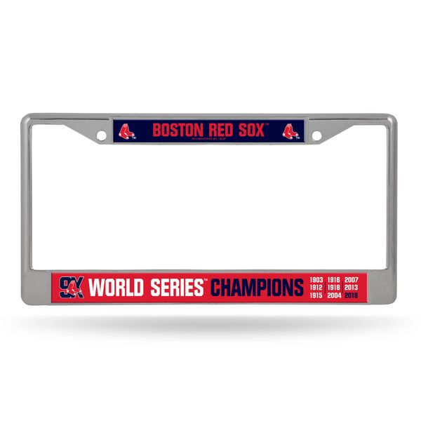 Boston Red Sox 9X World Series Champions License Plate Frame MLB