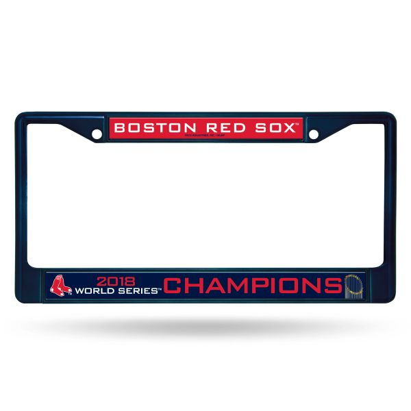 Boston Red Sox World Series Champions Color Chrome License Plate Frame (Blue) MLB