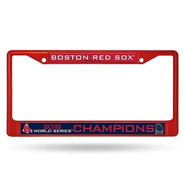 Boston Red Sox World Series Champions Color Chrome License Plate Frame (Red) MLB