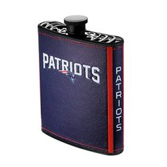 New England Patriots NFL Plastic Hip Flask w/ Team Colors and Logo