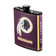 Washington Redskins NFL Plastic Hip Flask w/ Team Colors and Logo
