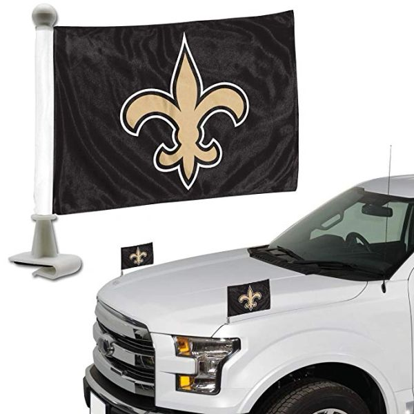 New Orleans Saints Team Logo Ambassador Car Flag Set NFL