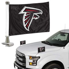 Atlanta Falcons Team Logo Ambassador Car Flag Set NFL