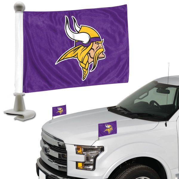 Minnesota Vikings Team Logo Ambassador Car Flag Set NFL