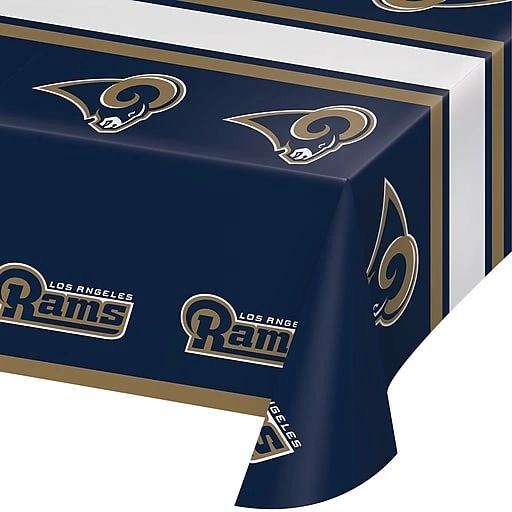 """Los Angeles Rams Plastic Table Cover 54"""" x 102"""""""
