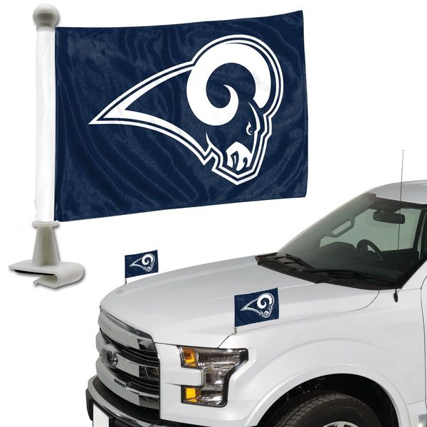 Los Angeles Rams Team Logo Ambassador Car Flag Set NFL