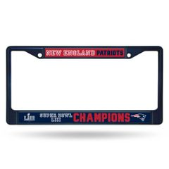 New England Patriots Super Bowl 53 Champions Color Chrome License Plate Frame