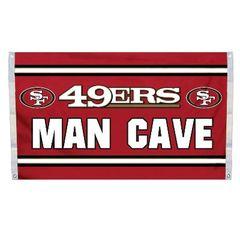 """San Francisco 49ers """"Man Cave"""" 3' x 5' Banner Flag NFL Licensed"""
