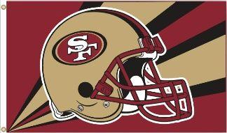 San Francisco 49ers Team Helmet Banner Flag 3'x5' NFL Licensed