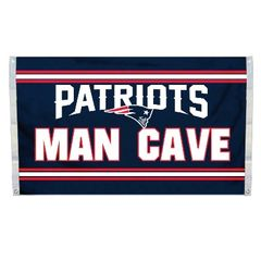 "New England Patriots ""Man Cave"" 3' x 5' Banner Flag NFL Licensed"